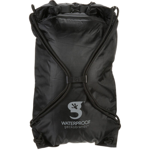 geckobrands Drawstring Waterproof Backpack Black/Grey