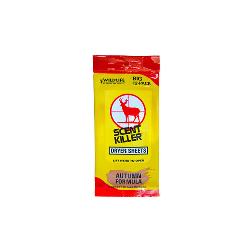 Wildlife Research Scent Killer Autumn Formula Dryer Sheets 12 Pack, 580