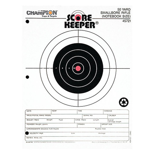 Champion Scorekeeper 50 Yd Small Bore Paper Target Orange Bull Pack of 12, 45721
