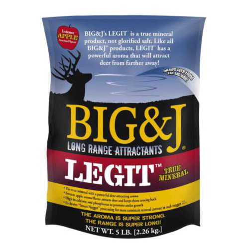 Big &J BB2-LG5CS Attractants Legit True Mineral Apple Flavor 5lb