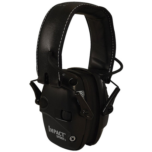 Howard Leight Impact Sport Electronic Hearing Protection Earmuffs, Black