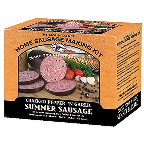 Hi Mountain Seasoning Cracked Pepper 'n Garlic Summer Sausage Kit