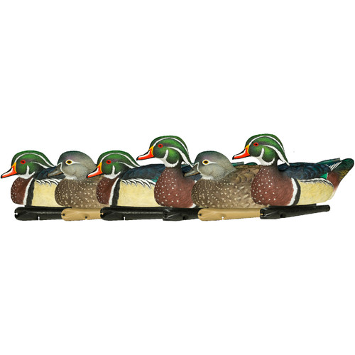 Avian-X Top Flight Duck Decoy, Wood Duck Floater 6pk 8083