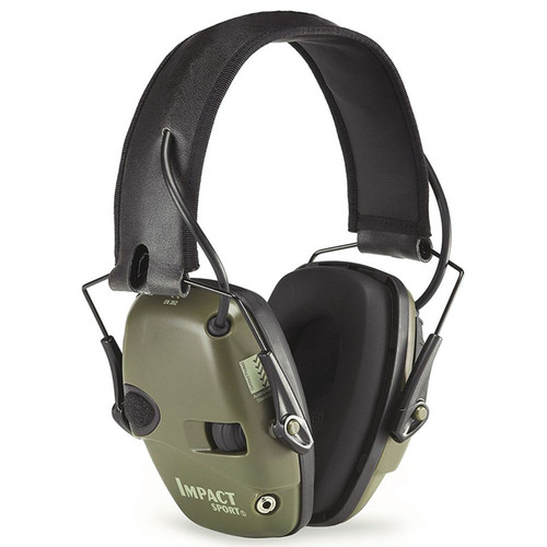 Howard Leight Impact Sport Electric Muffs NRR 22 Hunter Green , R-01526