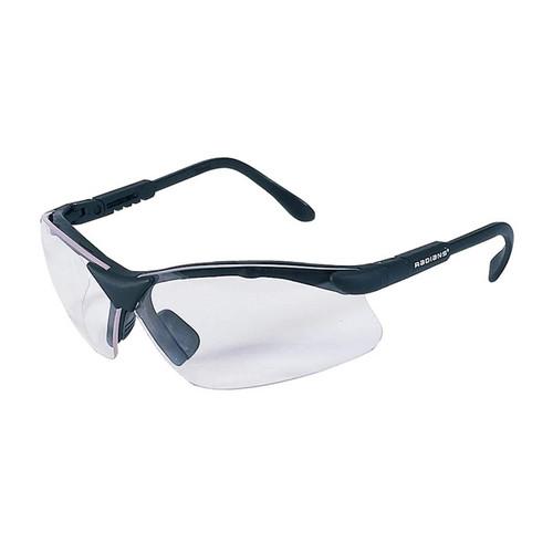 Radians Revelation Shooting Glasses Black Frame Clear Lenses, RV0110CS