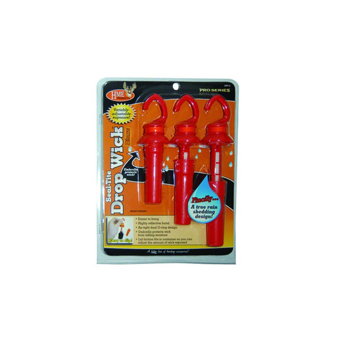 HME Products Pro Series Seal-Tite Drop Wick Scent Dispenser Orange 3 Pack, DWO