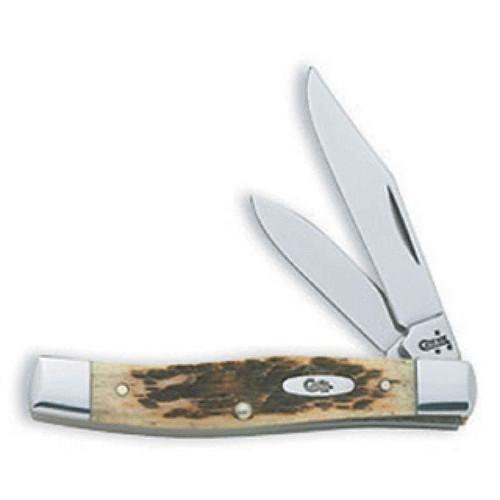 "Case 00077 Amber Bone CV Texas Jack Pocket Knife 2.57"" Blade"