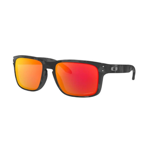 Oakley OO9102-E955 Holbrook Black Camo Prizm Ruby Sunglasses