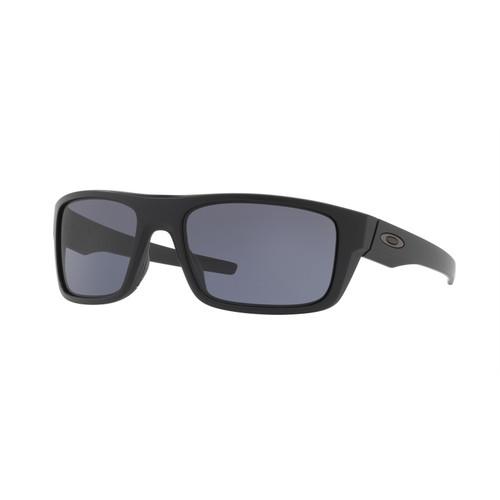 Oakley OO9367-0160 Drop Point Matte Black with Grey Sunglasses