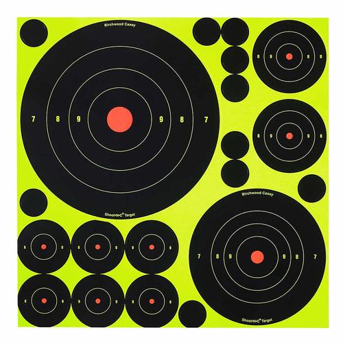 Birchwood Casey Shoot-N-C Targets Variety Pack 50 Targets 50 Pasters, 34018