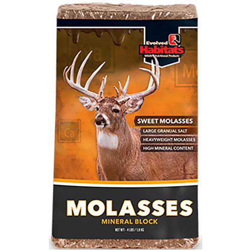Evolved Habitats Molasses Deer Supplement Block 4 lb 35001