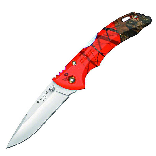 "Buck 0284CMS9-B Bantam BBW 2.75"" Drop-point 420HC Steel Blade Nylon HandleMossy Oak Orange Blaze Camo knife"