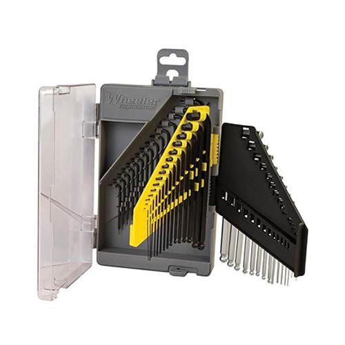 Wheeler 45 Piece SAE/Metric Hex and Torx Key Set for Pistol Rifle Handgun Gunsmithing Rebuild and Maintenance