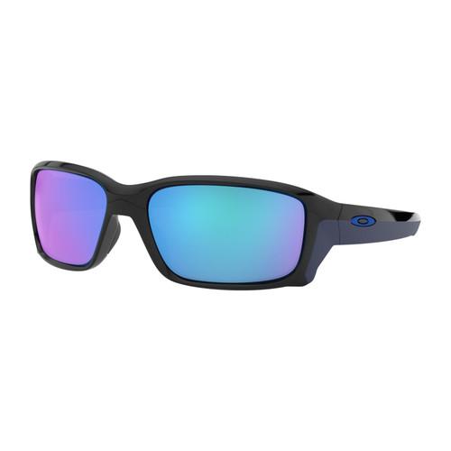 Oakley OO9331-04 Straightlink Polarized Black Sapp Iridium Sunglasses