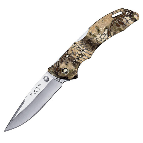 "Buck 0285CMS26 Bantam Folding Pocket Knife 3.125"" Drop-point 420HC Steel Blade with Pocket Clip Kryptek Highlander Camo"