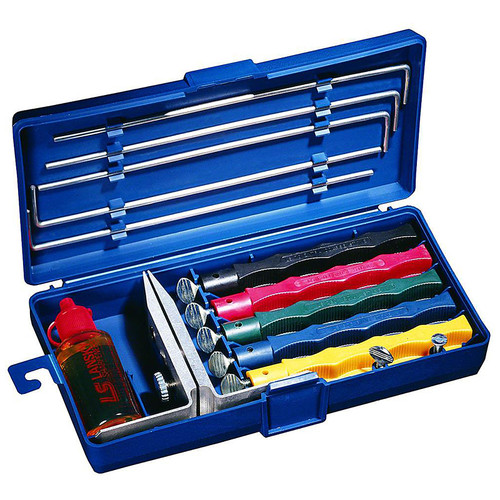 Lansky LKCLX Deluxe 5-Hone Sharpening System With Case and Oil