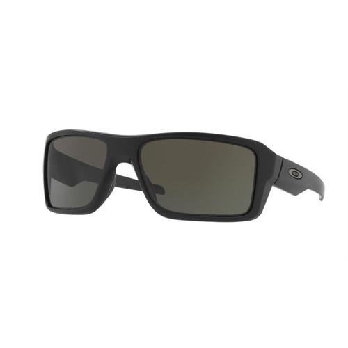 Oakley OO9380-0166 Double Edge Matte Black with Dark Grey Sunglasses