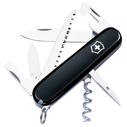 "Victorinox Swiss Army 53303 Camper Black 3.58"" Closed Length Pocket Knife"