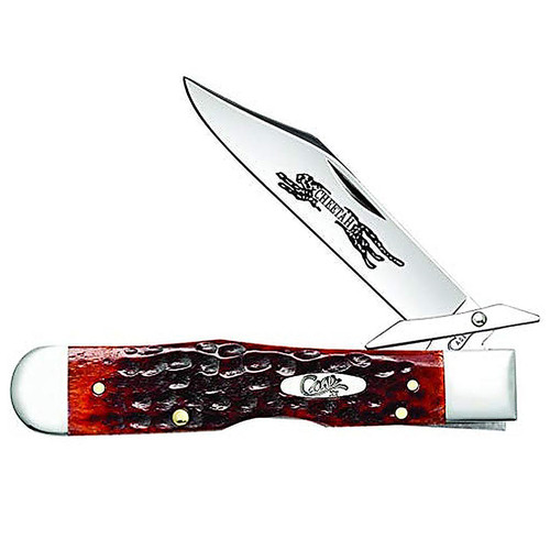 "Case 07019 Chestnut Bone Cheetah 3.2"" Chrome Vanadium Mirror-Polished Folding Blade"