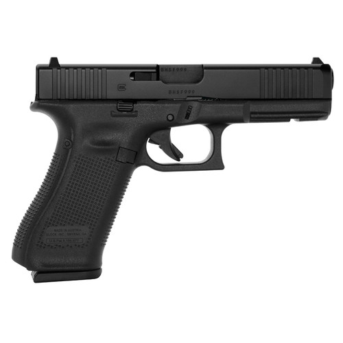 """Glock 17 Gen5 Full Size 9MM 4.49"""" Marksman Barrel Fixed Sights Ambi Slide Stop Lever Flared Mag Well Front Serrations 3x 17rd Mags"""
