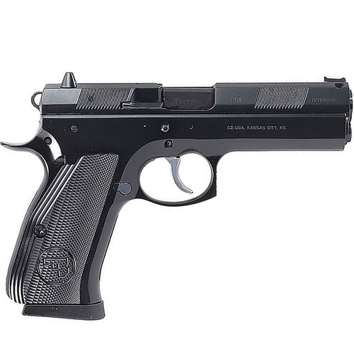 "CZ 97 B Full Size 45 ACP 4.65"" Barrel Steel Frame Aluminum Grips Fiber Optic Front Sight 2 Magazines 10rd Mag"