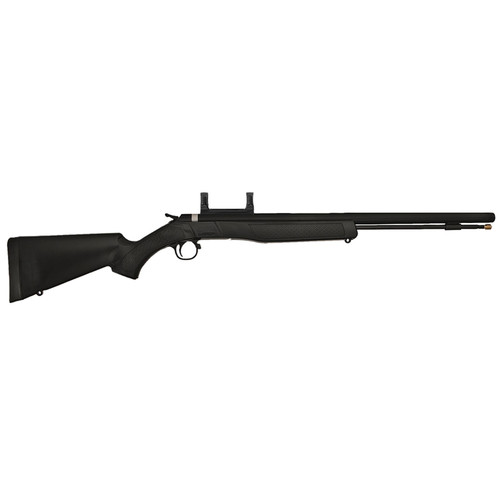 "CVA Wolf Break Open 50 Black Powder 24"" Mount Black Synthetic Stock Blued"