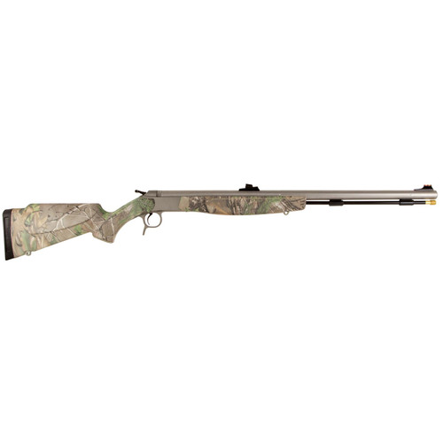 "CVA Optima v2 209 Magnum Series .50 Caliber 26"" Stainless Steel Fluted Barrel Fiber Optic Sights Realtree Xtra Green Stock"