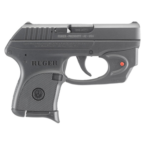 """Ruger LCP 380acp 2.75"""" Barrel Viridian Red Laser 6rd Mag"""