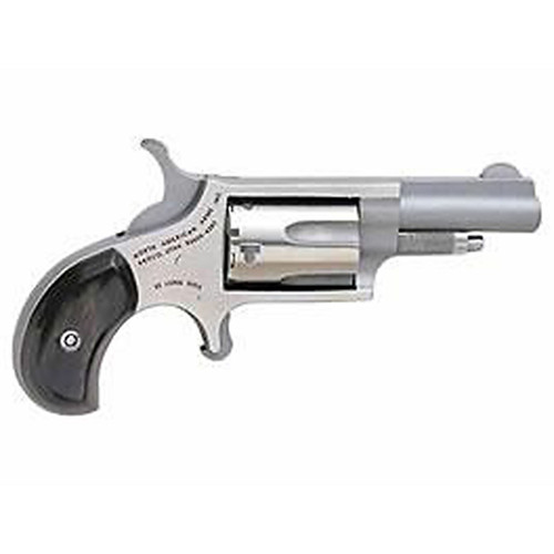"""NAA 22LR Mini-Revolver 22LR 1.62"""" 5rd Rosewood Grip Stainless"""