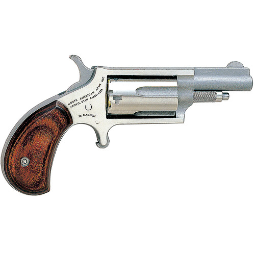 """NAA 22 Mag Mini 22 Mag 1.62"""" 5rd Rosewood Grip Stainless"""