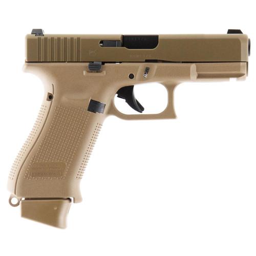 "Glock G19X 9mm 4"" Barrel Coyote Finish Nite Sites 1x 17rd 2x 17+2rd Mags"