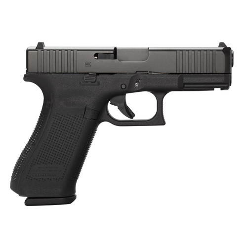 """Glock G45 Compact 9mm 4"""" Barrel Fixed Sights Ambi Slide Stop Lever Flared Mag Well 3x17rd Mags"""