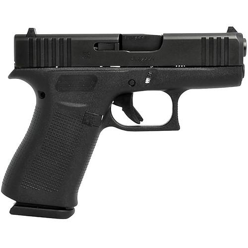 """Glock G43X 9mm 3.41"""" Black 10rd Fixed Sights"""