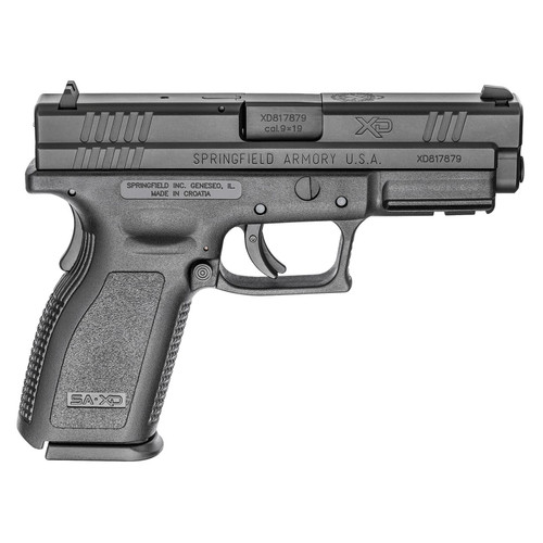 "Springfield XD9 Defender Full Size 9MM 4"" Barrel Polymer Frame Black Finish Fixed Sights 16Rd Mag"