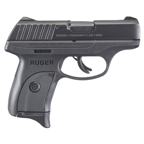"""Ruger EC9S Striker Fired Compact 9MM 3.1"""" Barrel Thumb Safety Fixed Sights 7rd Mag"""