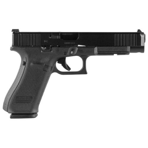 "Glock G34 9mm Gen 5 MOS 5.3"" 17rd Adjustable Sights Front Serrations"
