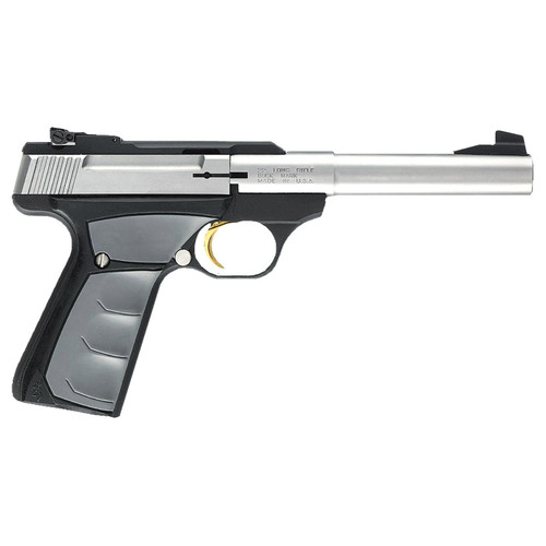 """Browning Buck Mark Camper UFX 22LR 5.5"""" Tapered Bull Barrel Stainless Steel UFX Ambidextrous Grips 10 Round"""