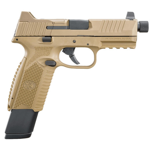 "FN 509T Tactical 9mm 4.5"" Barrel Flat Dark Earth Finish 3 Dot Night Sights 2- 24rd and 1- 17rd Mags"