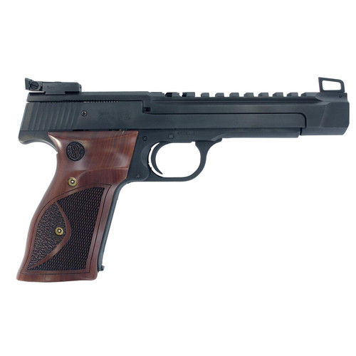 """Smith & Wesson Model 41 22LR Performance Center 5.5"""" Wood Grips Blued 10rd Mag"""