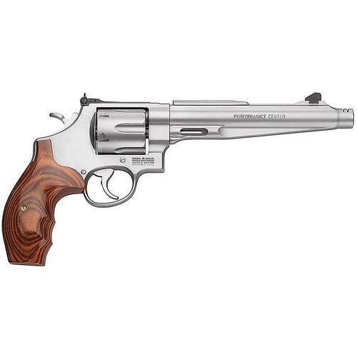 """Smith & Wesson 629 Performance Center 44 Mag 7.5"""" 6rd Wood Grip Matte Stainless"""