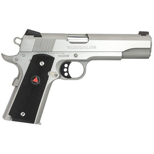 "Colt Delta Elite 10mm 5"" Barrel SS Composite Grips Delta Medallions 8 Rd Mag"
