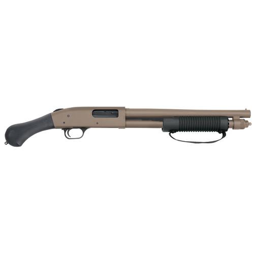 "Mossberg 590 Shockwave 12 Ga 14"" Barrel Flat Dark Earth Raptor Pistol Grip 6rd- No NFA Paperwork"