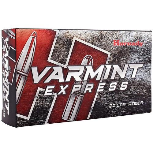 Hornady 8336 Varmint Express 22250 Remington 50 GR VMax 20 Box