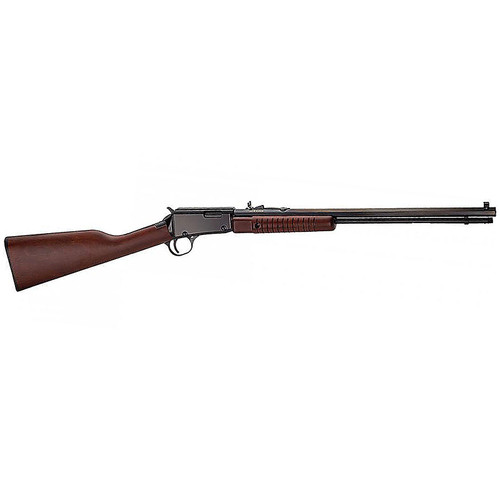 "Henry Pump 22 Mag 20"" Octagon Barrel Walnut Stock Blue Finish 12 Round"