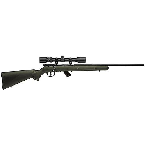 "Savage MKII FXP 22LR 21"" Barrel Bushnell 3-9x40 Scope Incl Blued Finish Olive Drab Stock 10rd"