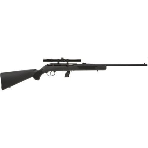 """Savage 64 FXP with Scope Semi-Automatic 22LR 21"""" Barrel Synthetic Black St 10rd"""