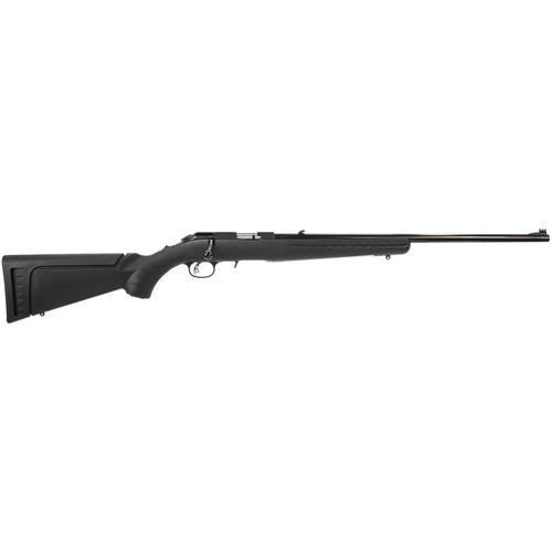 "Ruger American Rimfire Rifle 22LR 22"" Barrel Satin Blue 2 Interchangeable Stock Modules Black Composite Stock 10rd"