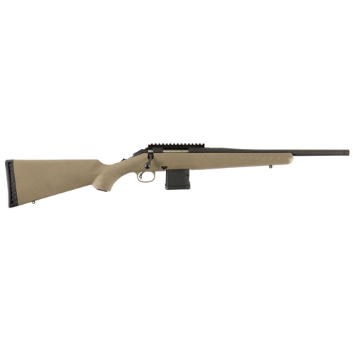 "Ruger American Rifle Ranch .300 AAC Blackout 16"" Barrel Adjustable Trigger Flat Dark Earth 10rd Mag"