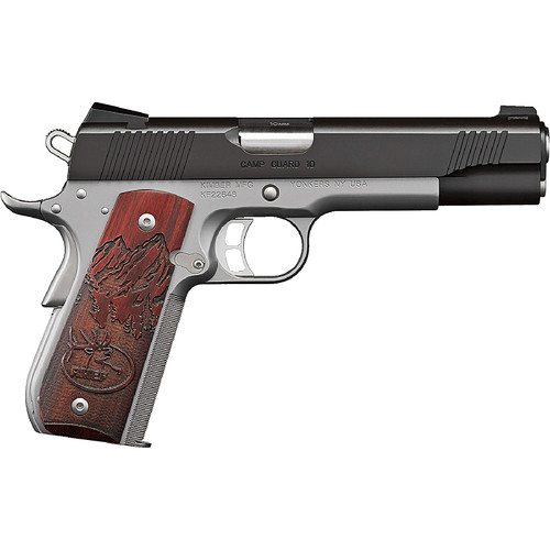 Kimber Camp Guard 10mm Two Tone Rosewood Grips 8rd