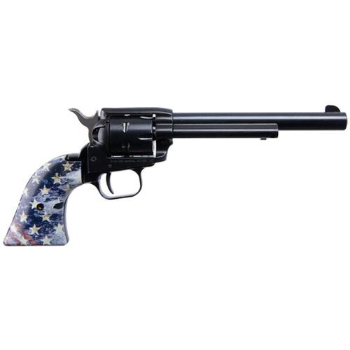 "Heritage Manufacturing Inc Rough Rider US Flag 22 Long Rifle 6.5"" Barrel 6 Round Capacity Blue Finish"